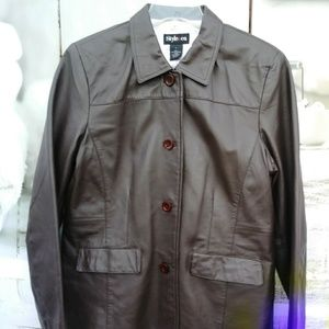 Leather Jacket by Style & Co. Sz. L